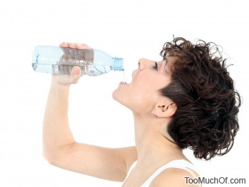 drinking too much water
