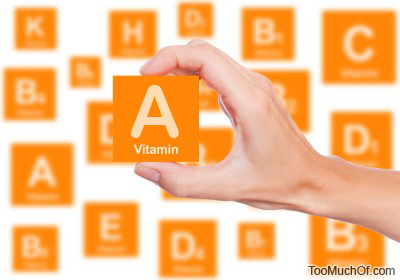 too much Vitamin A and excess